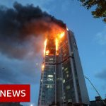 Fire engulfs 33-storey South Korea tower block - BBC News