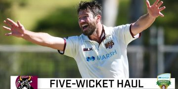 Neser begins Shield season with fab five | Marsh Sheffield Shield 2020-21