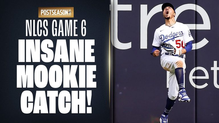 Mookie Betts makes INSANE jumping grab in NLCS Game 6! (Dodgers-Braves) | MLB Highlights