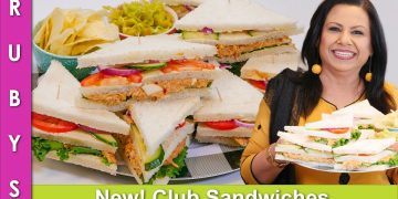 NEW! Party Idea No Mayo Club Sandwiches Recipe in Urdu Hindi - RKK