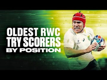 🏉 Oldest RWC Try Scorers By Position 🏆 21