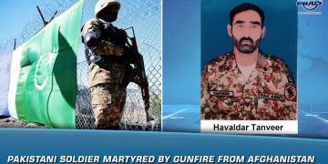 Pakistani soldier martyred by gunfire from Afghanistan | News Bulletin | Indus News