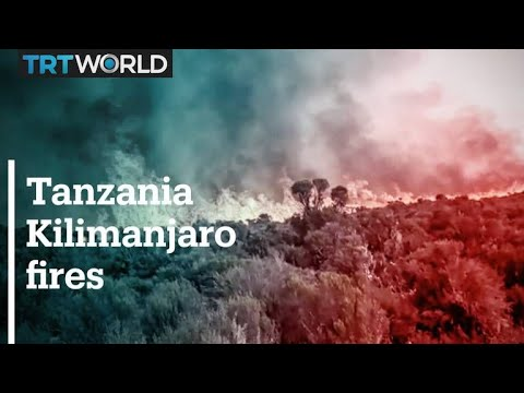 Wildfires rage on Africa's tallest mountain in Tanzania