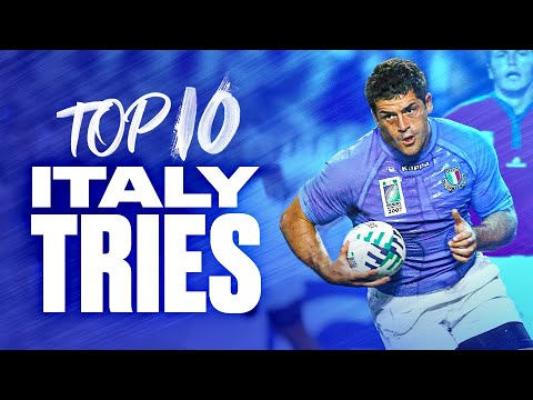 💪 Awesome Italy 💥 | Top 10 Italy Tries at Rugby World Cup 1