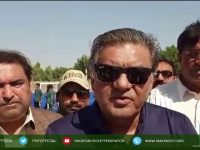 President Pakistan Hockey Federation at Sukkur Hockey Stadium