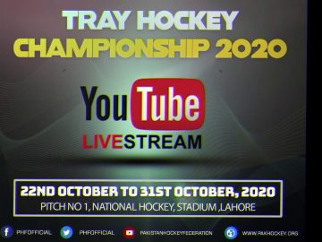 LIVE on YOUTUBE National TRAY Hockey Championship 22nd to 31st October 2020
