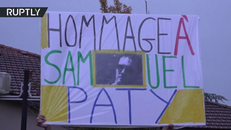 Thousands march in honor of murdered French teacher Samuel Paty