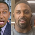 Michael Thomas crashes Cam Jordan's interview to deliver a message to Stephen A.   First Take