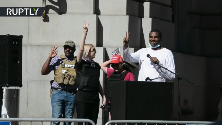 'Free speech' rally | Black conservative gets tooth knocked out allegedly by Antifa