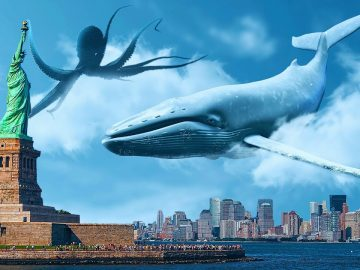 What If Sea Creatures Could Fly Suddenly