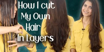 How I Cut My Hair at Home in Layers / Beautiful Long Layered Haircut Tutorial - Ghazal Siddique
