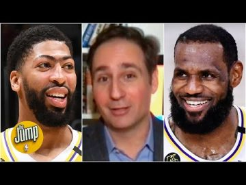 Reacting to Anthony Davis saying LeBron told him the Lakers are his team now | The Jump