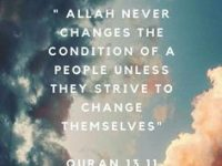 Allah Never Changes the conditions... 30
