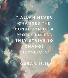 Allah Never Changes the conditions... 24
