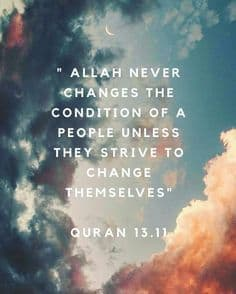 Allah Never Changes the conditions... 1