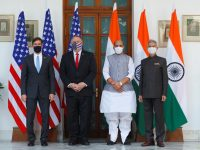 The United States and India signed a pact to share sensitive satellite and map data. 34