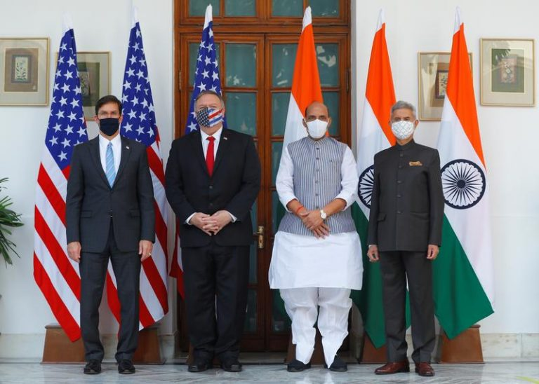 The United States and India signed a pact to share sensitive satellite and map data. 1