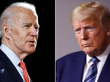 US President Donald Trump and Democratic presidential nominee Joe Biden participate in their final 2020 U.S. presidential campaign debate at Belmont University in Nashville, 1