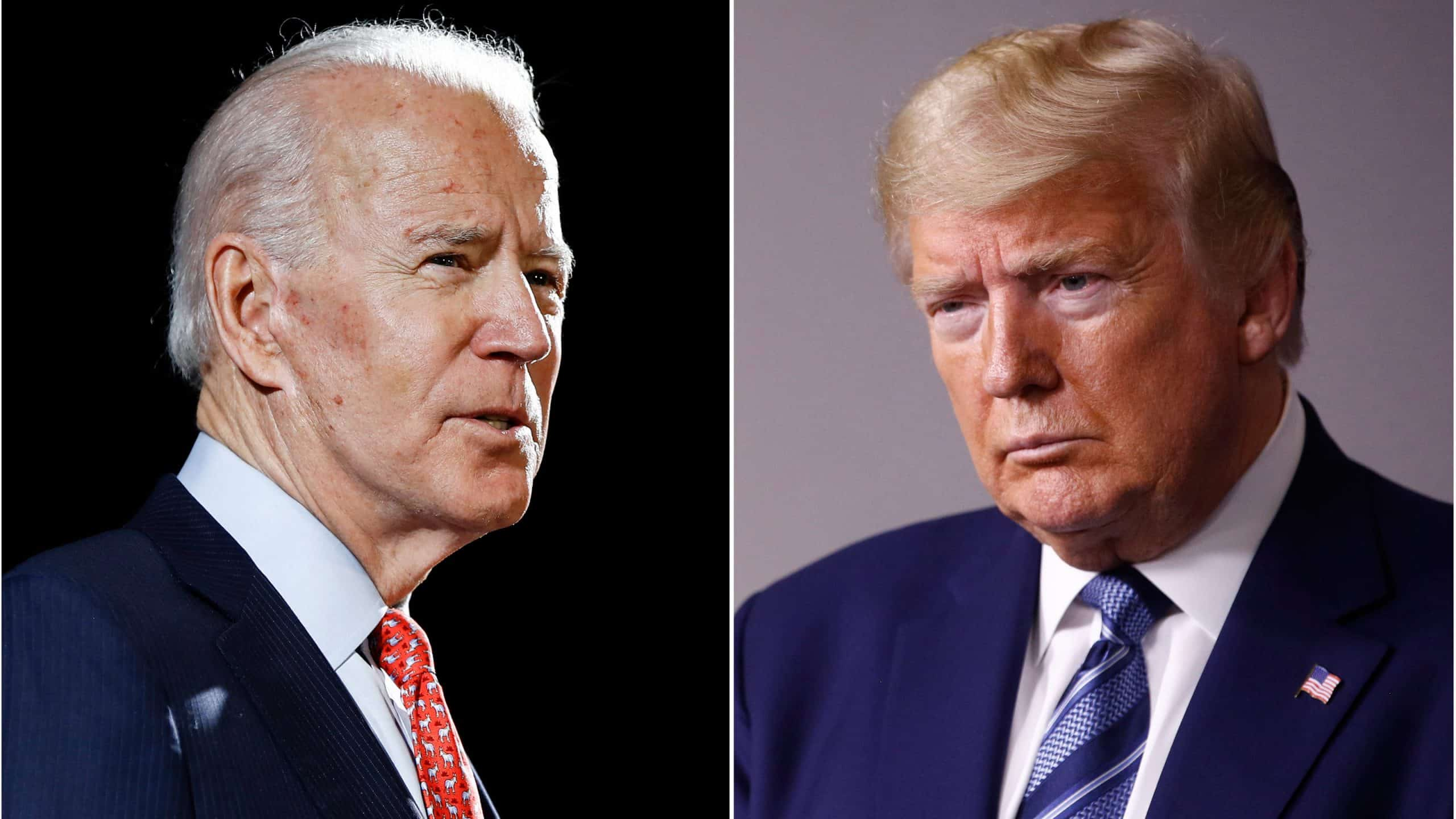 US President Donald Trump and Democratic presidential nominee Joe Biden participate in their final 2020 U.S. presidential campaign debate at Belmont University in Nashville, 4