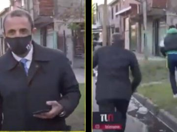 News Reporter gets robbed on Live TV in Argentina 23