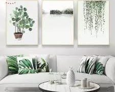 Wall decoration with plants 12