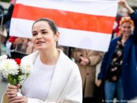 Belarus and Russia have added opposition leader Sviatlana Tsikhanouskaya to their wanted lists, 25