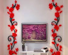 Beautiful wall decoration with flowers 11