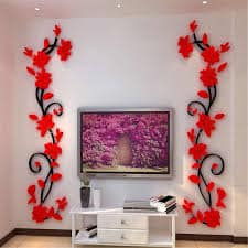 Beautiful wall decoration with flowers 1