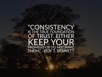 Consistency is the true foundation 37