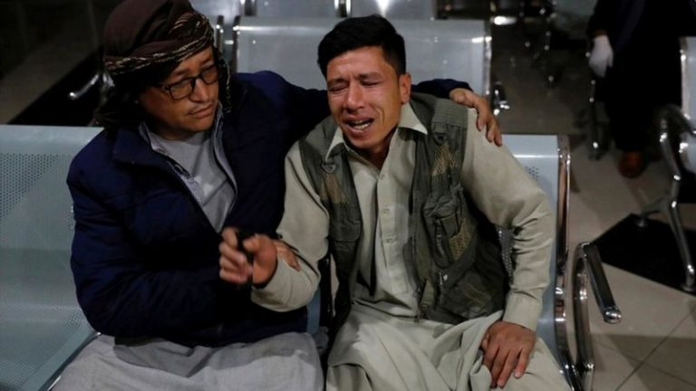 At least 18 people have been killed in a suicide bomb attack outside an education centre in Kabul, 1