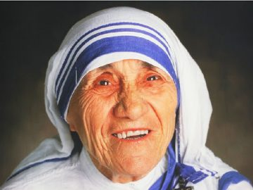 Mother Teresa, the Founder of the Missionaries of Charity. 5