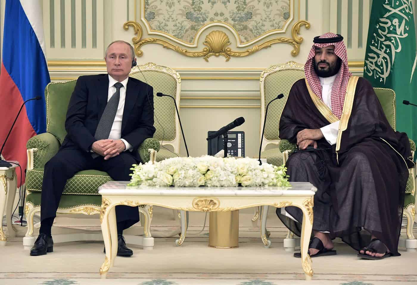 """President Putin and Crown Prince Mohammed Bin Salman spoke Saturday discussed the OPEC+ cooperation """"extensively,"""" 4"""