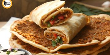 Turkish Lahmacun Recipe By Food Fusion