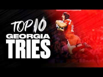 Georgia's Rugby Highlights 🇬🇪 | Top 10 Tries at the Rugby World Cup! 11