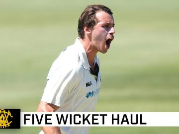 Lightning Lance shows some spark with five wicket haul   Marsh Sheffield Shield 2020-21
