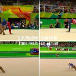 All of Simone Biles' floor routines, at the same time!