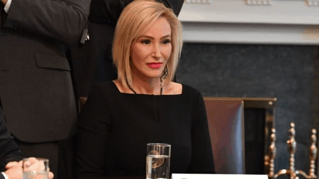 Pastor Paula White during one meeting between US President Donald Trump and African-American leaders for Cabinet Room inside White House