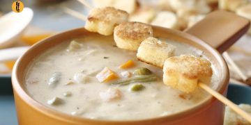 Vegetable & Cheese Soup Recipe By @Food Fusion