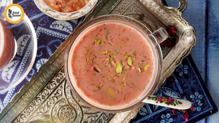 Kashmiri Noon Chai - Pink Tea Recipe By Food Fusion