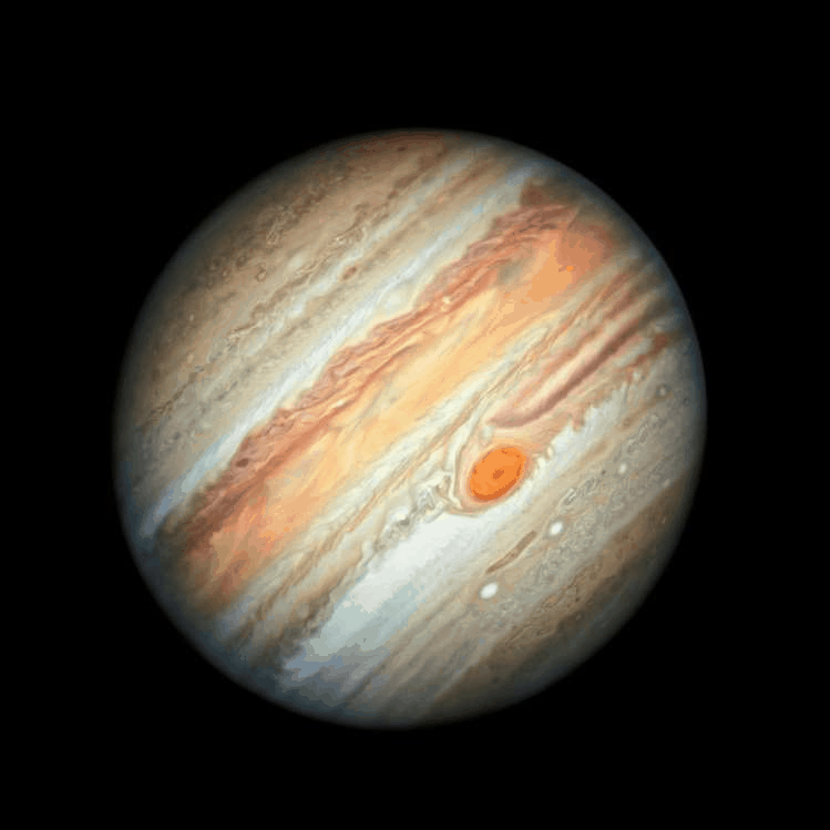 Slide 2 of 23: A new Hubble Space Telescope view of the planet Jupiter, taken June 27, 2019, and part of yearly study called the Outer Planets Atmospheres Legacy program (OPAL), is shown in this composite photo released August 8, 2019.  NASA/ESA/A. Simon/M.H.Wong/Handout via REUTERS    ATTENTION EDITORS - THIS IMAGE WAS PROVIDED BY A THIRD PARTY     TPX IMAGES OF THE DAY