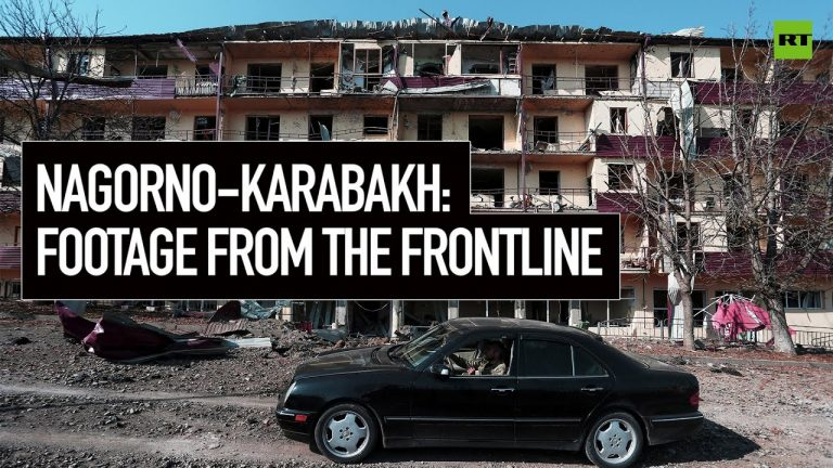 Nagorno-Karabakh: Footage from the frontline