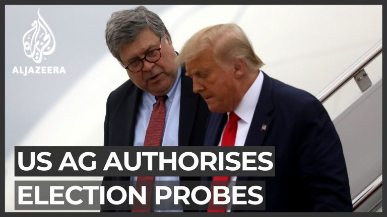 AG Barr authorises election probes with little evidence of fraud