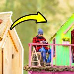 Welcome to our TREEHOUSE! Easy DIY Project For Beginners with Pallets and Workshop Gadgets