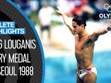 The greatest diver of all-time? Greg Louganis at Seoul 1988 🇺🇸 | Athlete Highlights 2