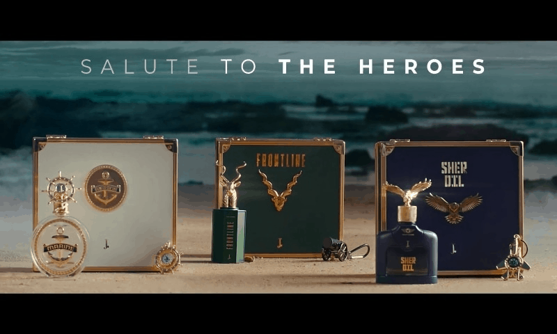 The J. has introduced three new fragrances named Frontline, Sherdil and Marine. 5