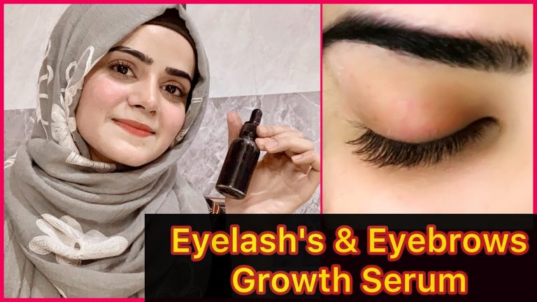 How To Grow Long Eyelashes And Eyebrows Naturally | Healthy Eyelashes And Eyebrows | Dietitian Aqsa