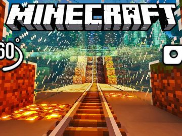 Ultimate Minecraft 360° VR Roller Coaster Ride Tricks Your Eyes