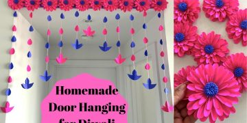 Homemade Door Hanging for Diwali | Diwali Home Decoration Ideas | Easy Toran Design 7