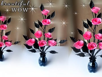 how to make a beautiful flower for home decoration / how to make flower at home easy 4