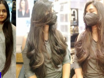 Very Easy long layered Haircut tutorial - आसान Haircut tutorial - haircut expert Shyama's Makeover
